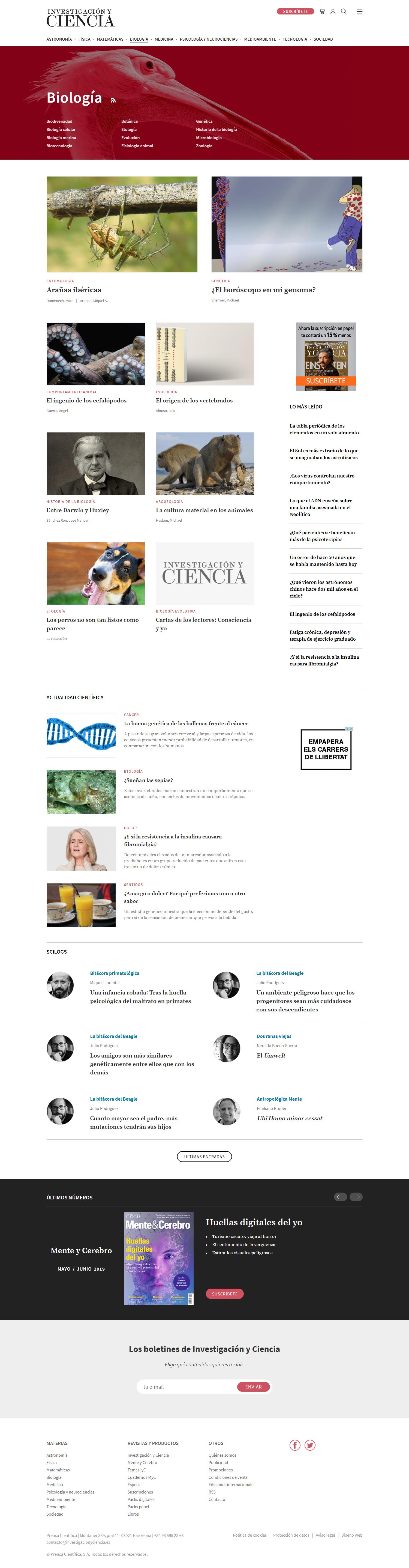 Investigación y Ciencia - Premis Nobel