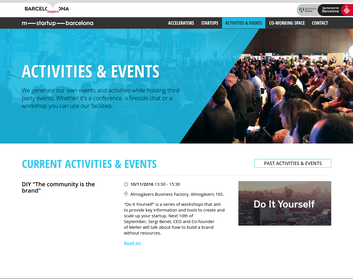 m-startup-barcelona - Activities and events
