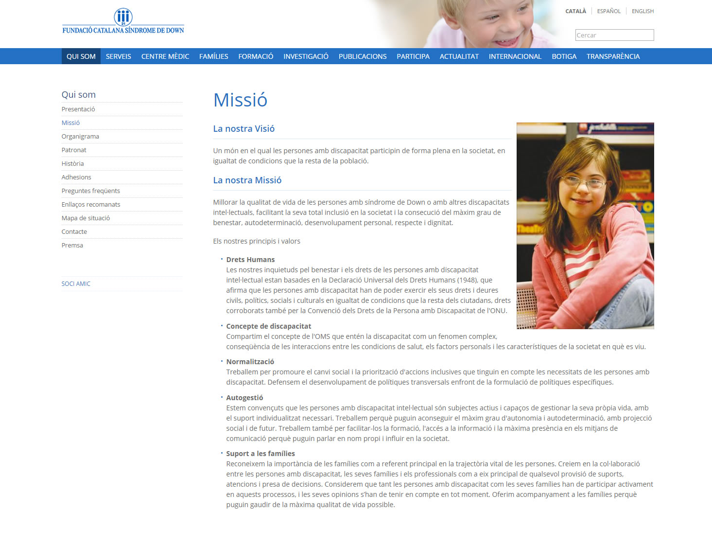 Catalan Down's Syndrome Foundation - Who