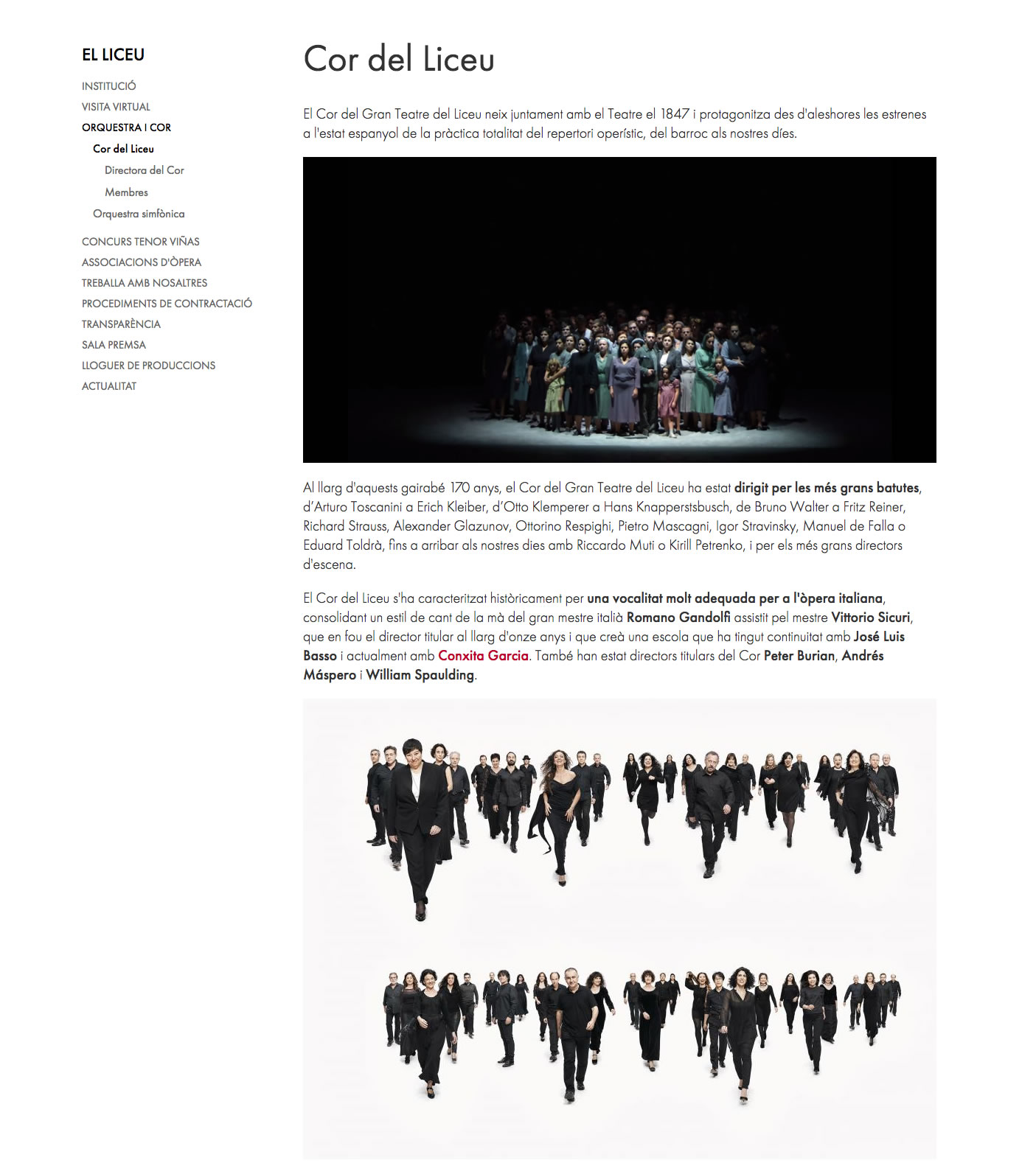 Gran Teatre del Liceu - Coro del Liceu
