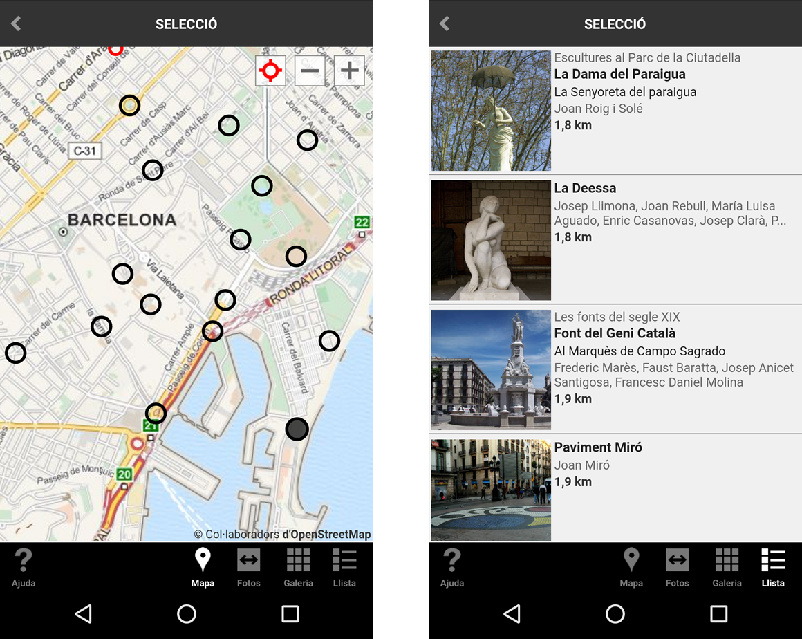 Barcelona Art Públic - Mapa