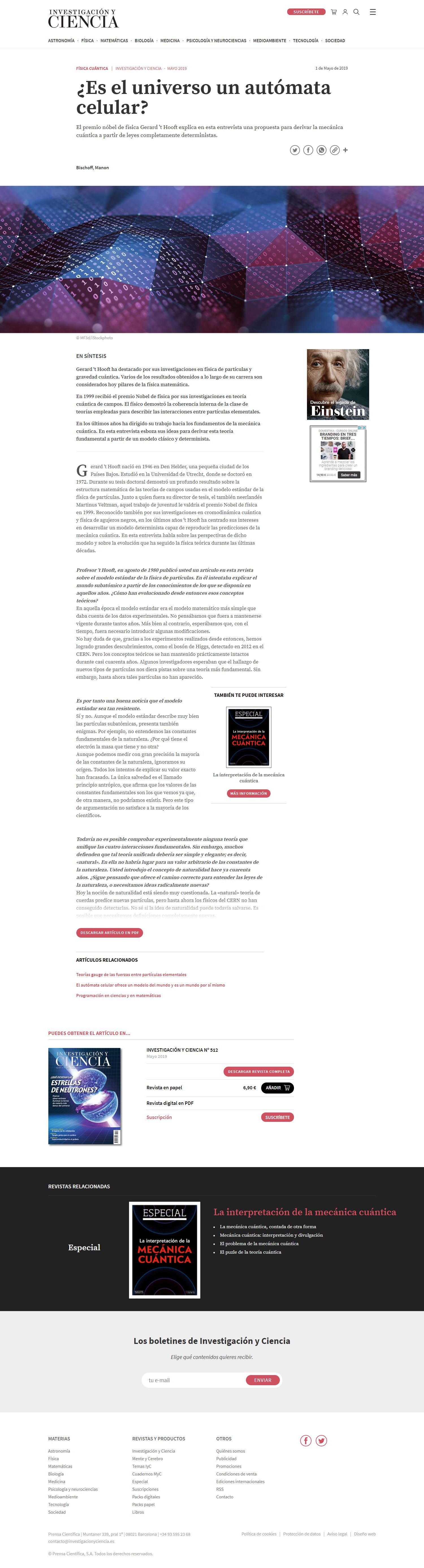 Investigación y ciencia. Noticia1