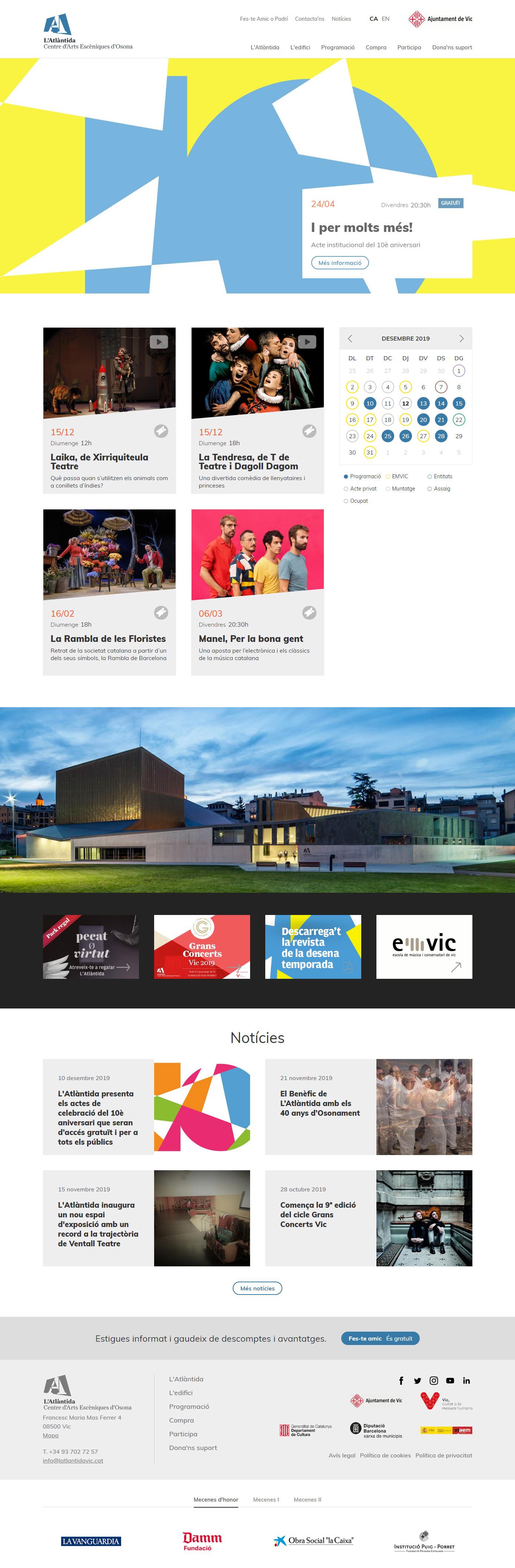 L'Atlàntida - Homepage